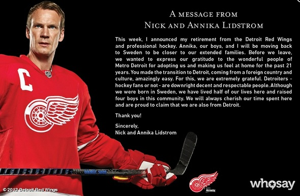 Nicklas Lidstrom and RHCP