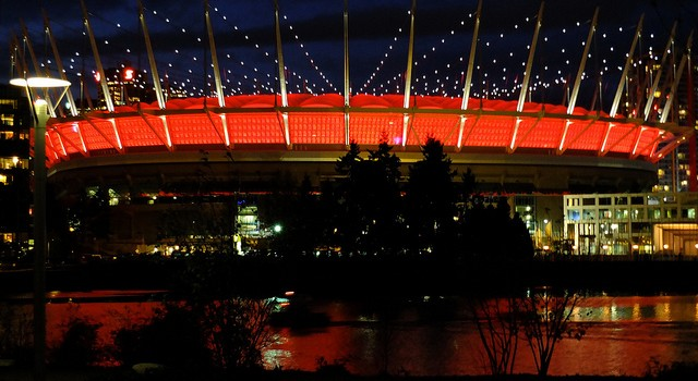 Vancouver Lit Up in Orange