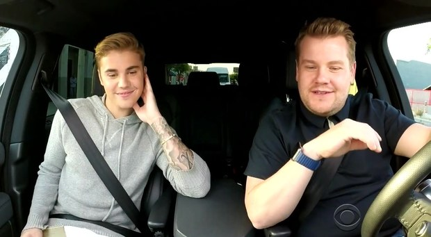 Justin Bieber and James Corden Carpool Karaoke